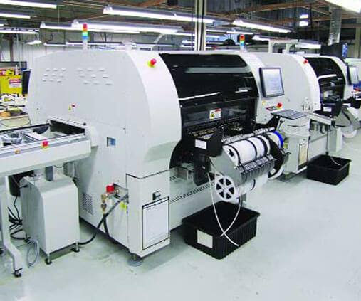 Highly automated in-line assembly machines speed operations at Micro Control.